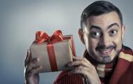 Man Opening Gift Edited