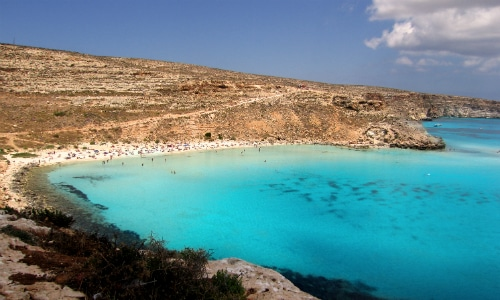 Rabbit Beach Lampedusa Italy