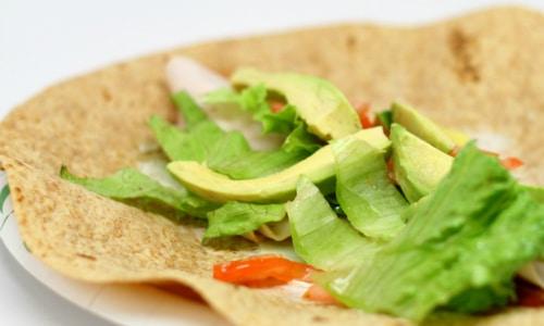 Turkey Avocado Wraps Lunch