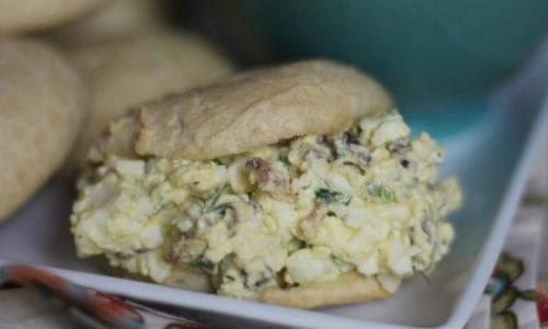 Bacon Jalapeño Egg Salad Sandwiches