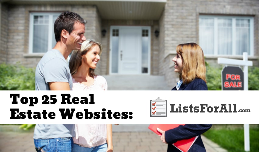 Best real estate websites the top 25 list for Best house buying websites