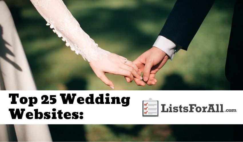 best wedding websites the top 25 list