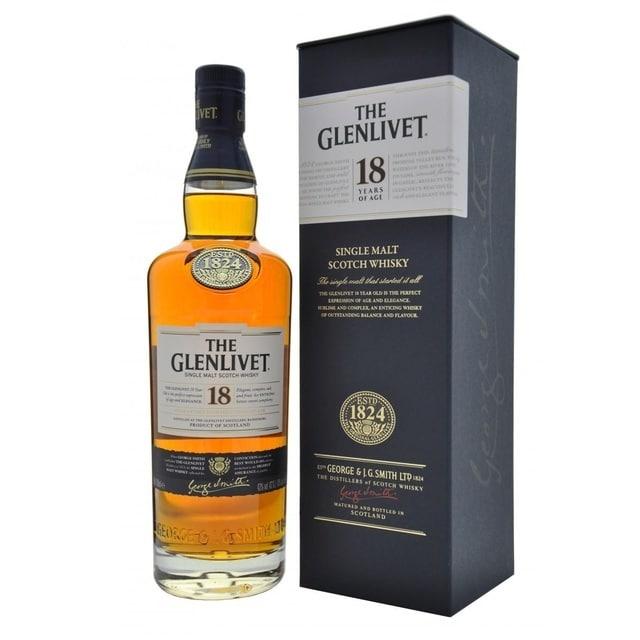 Glenlivet 18 Year Old Whiskey