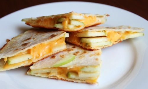 Apple and Cheese Quesadilla