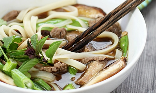 Rice Noodle Soup with Beef