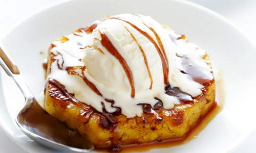 Rum-Soaked Grilled Pineapple