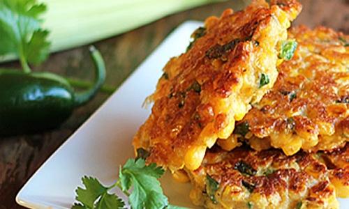 Jalapeno Corn Fritters Vegetarian Recipe