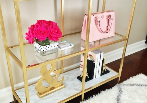 Gold and Marble Shelves