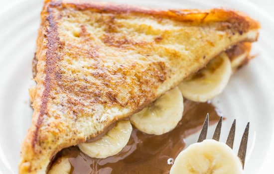 Chocolate Peanut Butter Banana Stuffed French Toast Recipe