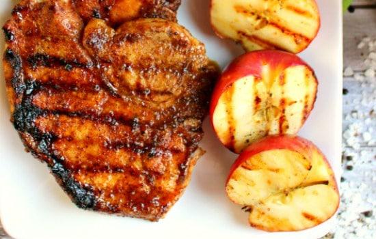 Grilled Apple Cider Glazed Pork Chops Recipe