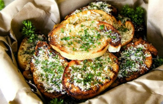 Grilled Parmesan Garlic Bread Recipe