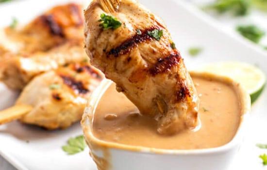 Grilled Thai Peanut Chicken Skewers Recipe