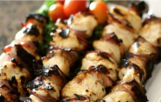 Grilled Ranch Chicken Bacon Kebobs Recipe