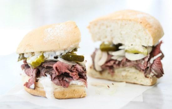 Sirloin Steak Sandwiches with Horseradish Sauce Recipe