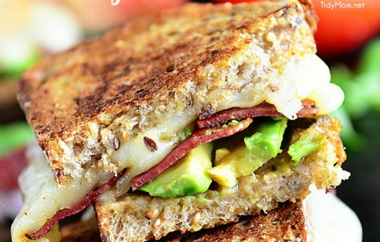 Turkey, Bacon, and Avocado Grilled Cheese
