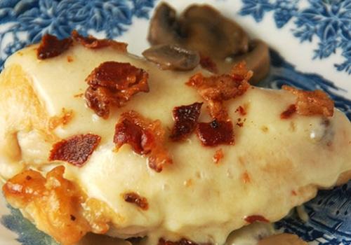 Bacon Mushroom Swiss Chicken