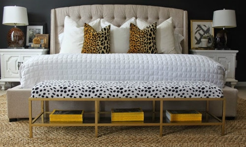 Gold Upholstered Storage Bench IKEA Hack