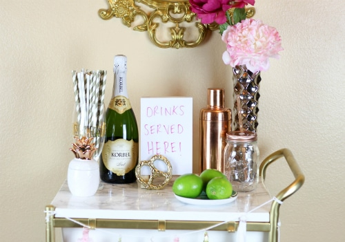 Gold and Marble Bar Cart IKEA Hack