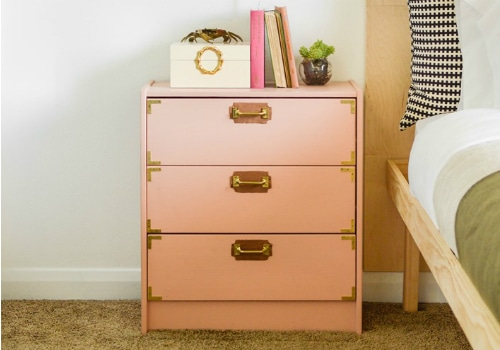 Leather and Brass Campaign Dresser IKEA Hack