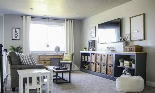Long Storage Unit IKEA Hack