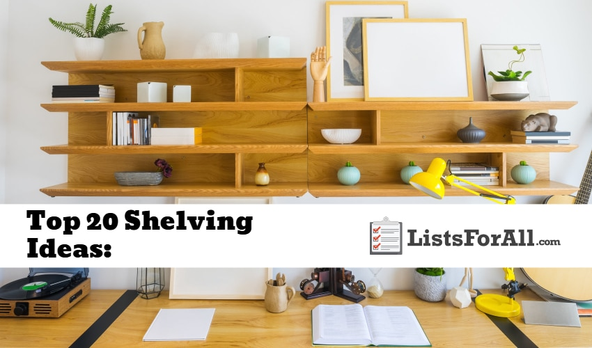 shelving ideas for your home
