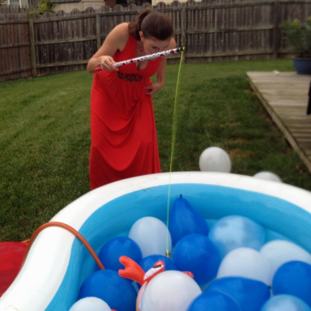 Fishing for Pacifiers Baby Shower Game