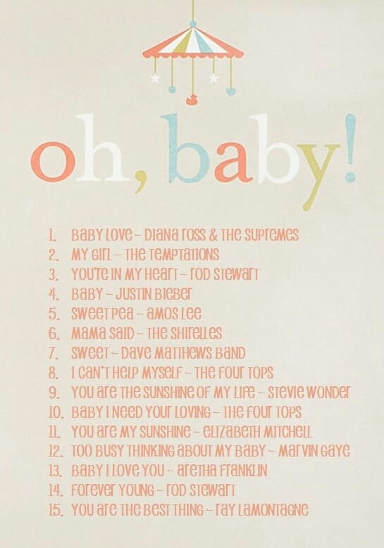 Oh Baby, A Playlist