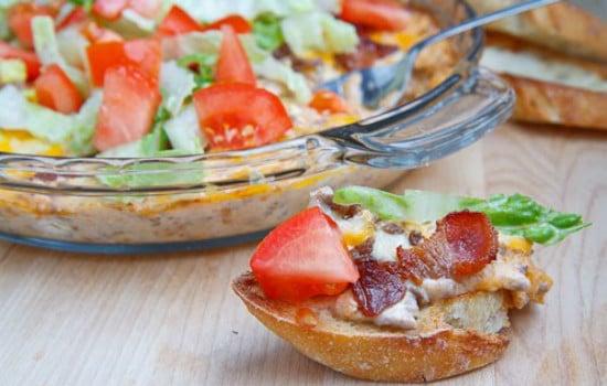 Bacon Double Cheeseburger Dip Appetizer