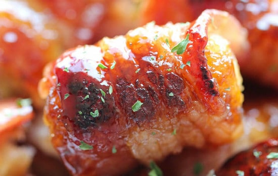 Bacon Wrapped Tater Tot Bombs Appetizer