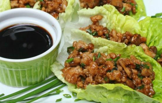 Chicken Lettuce Wraps Appetizer