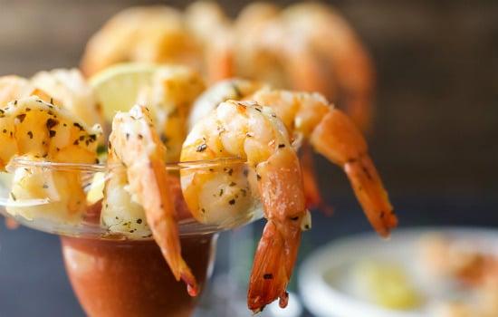 Garlic Herb Roasted Shrimp Appetizer