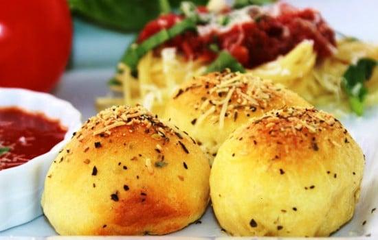 Meatball Stuffed Buns Appetizer