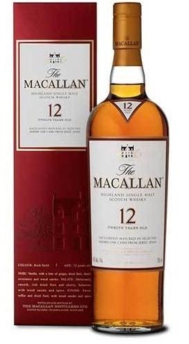The Macallan Highland 12 Year Old Single Malt Scotch Whisky