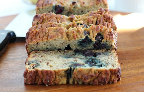 Paleo Banana Blueberry Breakfast Bread Recipe