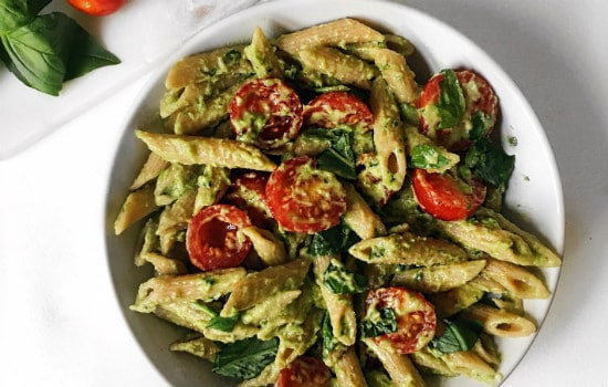 Vegan Basil Avocado Pasta Recipe