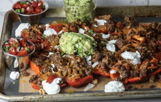 Paleo Bell Pepper Nachos Recipe
