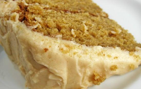 Carmel Apple Cake with Apple Cider Frosting