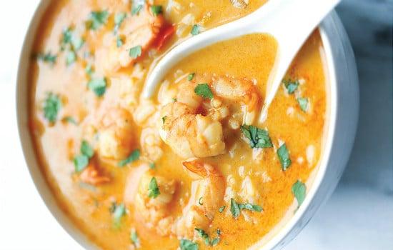 Easy Thai Shrimp Soup Recipe