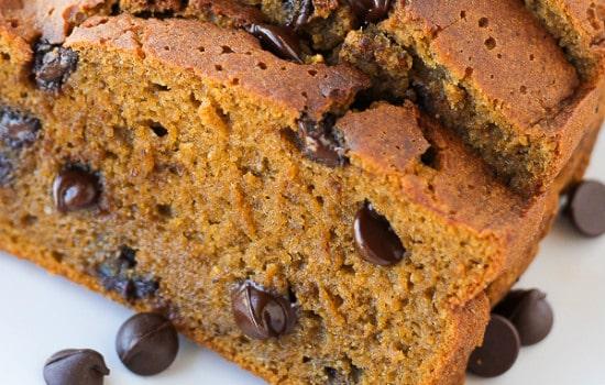 Gluten Free Pumpkin Chocolate Chip Bread Recipe