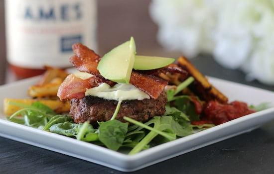 Paleo Chorizo Burgers with Pan Fried Sweet Potato Fries Recipe