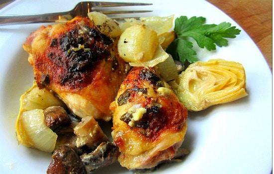 Paleo Baked Artichoke Chicken Recipe