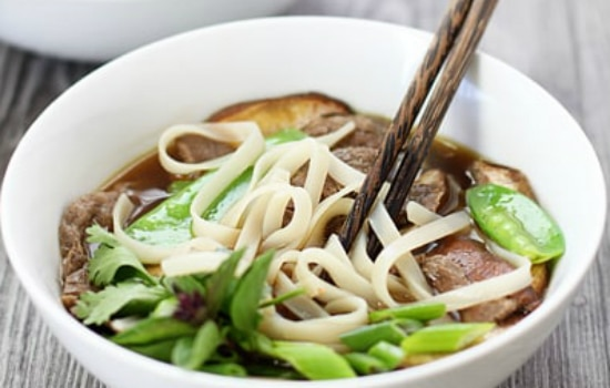 Rice Noodle Soup with Beef Recipe