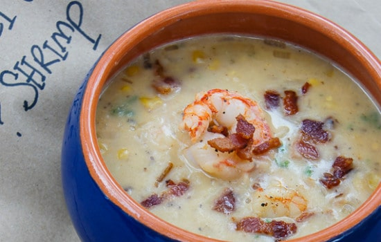 Sweet Corn and Shrimp Chowder