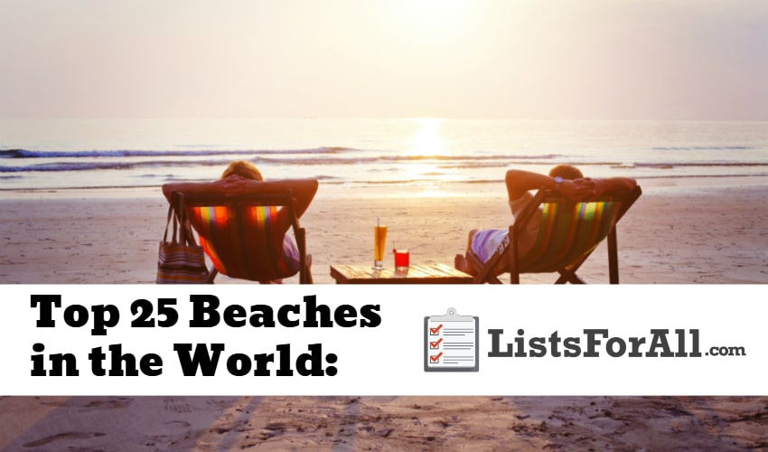 List of the Best Beaches in the World