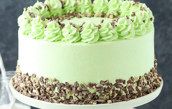 Mint Chocolate Chip Layer Cake Recipe