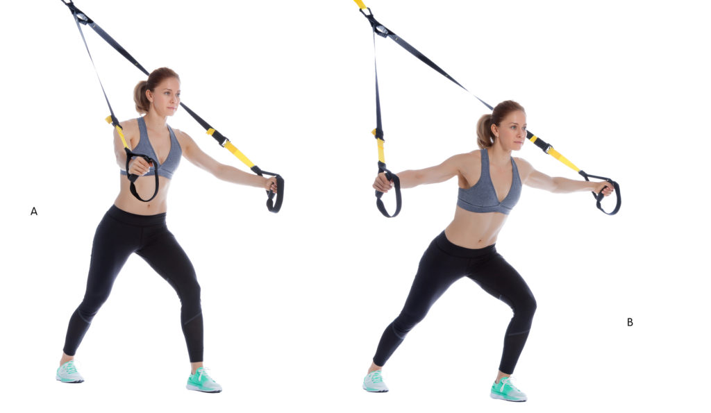 TRX Chest Fly Offset Stance