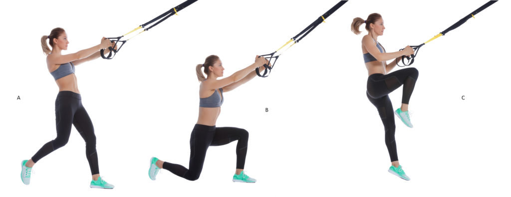 TRX Lunge with Hop