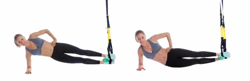 TRX Side Plank with Hip Drop