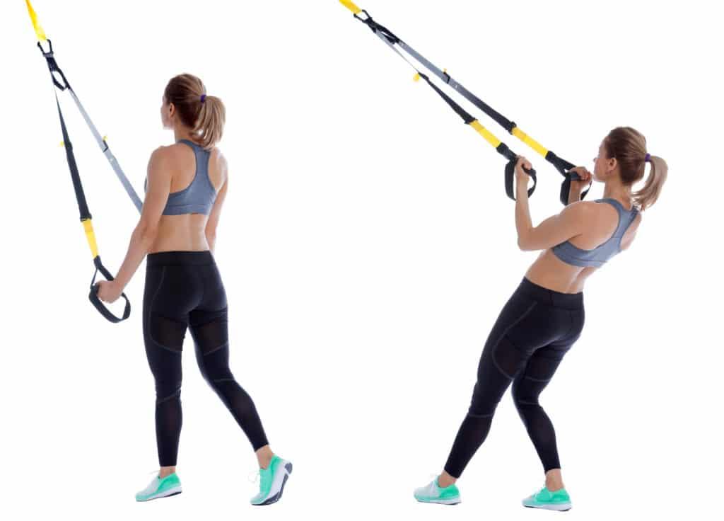 Tricep Kickback TRX Exercise