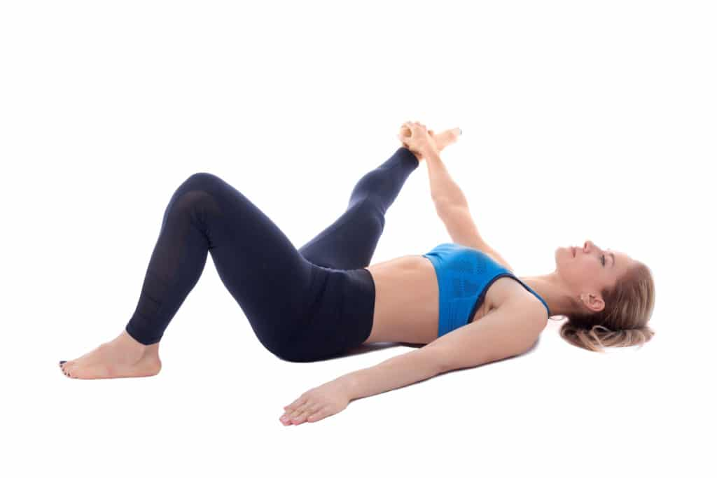Lying Lateral Hamstring Stretch